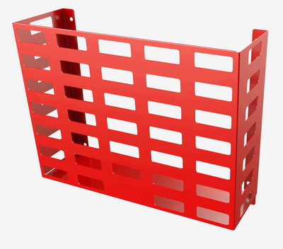 RED Steel - HORIZONTAL WALL MOUNTED BASKET