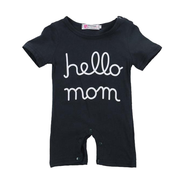 Tiny Hello Mom Romper.  -  Tiny Cupids