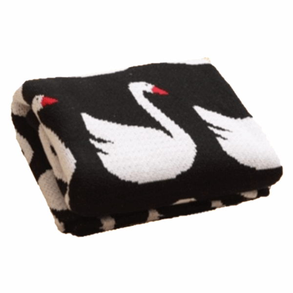 Swan Knitted Blanket  -  Tiny Cupids