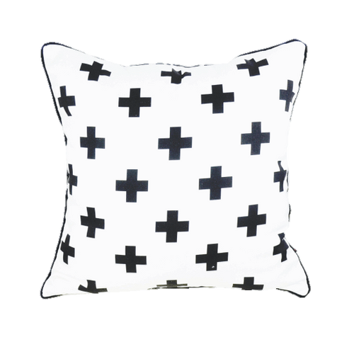 White Cross Pillow Cover  -  Tiny Cupids