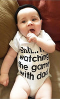 Shh..I'm Watching The Game With Dad Bodysuit- Free just pay shipping