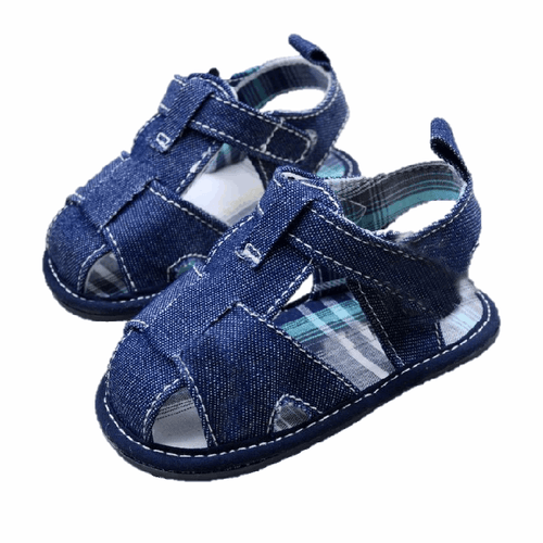 Tiny Blue or White Cotton Shoes.  -  Tiny Cupids