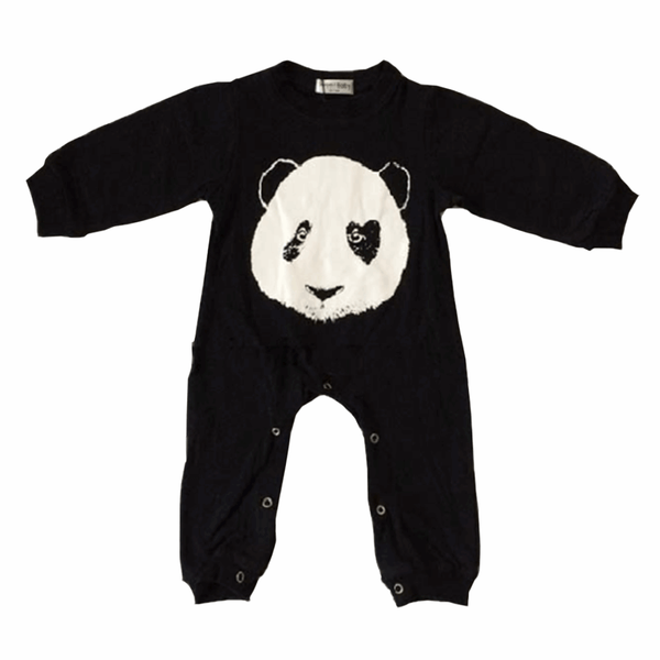 Tiny Black&White Panda Jumpsuit  -  Tiny Cupids