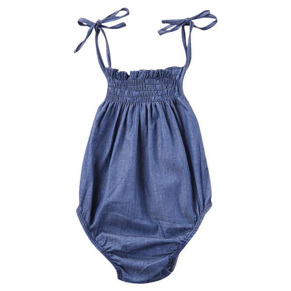 Demin Girl Romper  -  Tiny Cupids