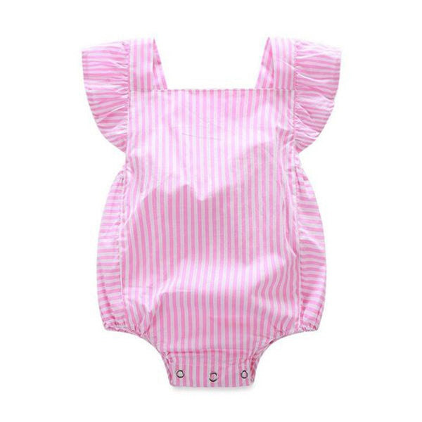 Pink Striped Jumpsuit  -  Tiny Cupids