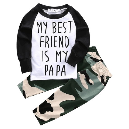 My Best Friend Is My Papa Clothing Set.  טבלה  -  Tiny Cupids