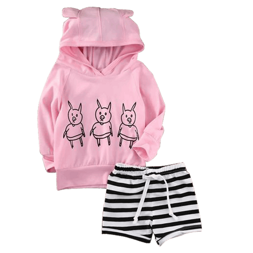 Cute Ears Hooded Outfit  -  Tiny Cupids