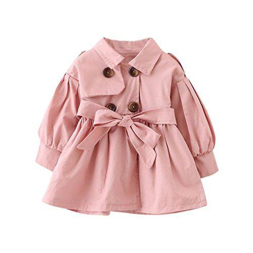 Double-Breasted Cardigan Belted Trench Coat  -  Tiny Cupids