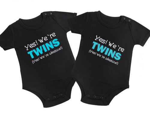 Yes, We Are Twins Bodysuit Set.  -  Tiny Cupids