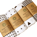 Muslin Organic Cross Swaddle Blanket.  -  Tiny Cupids