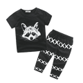 Fox Black & White Outfit  -  Tiny Cupids