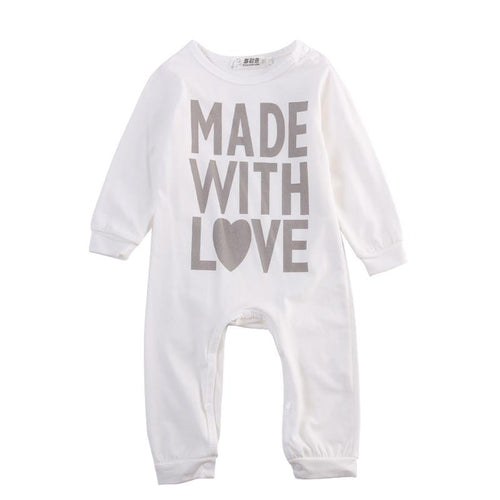 'Made with Love' Jumpsuit  -  Tiny Cupids