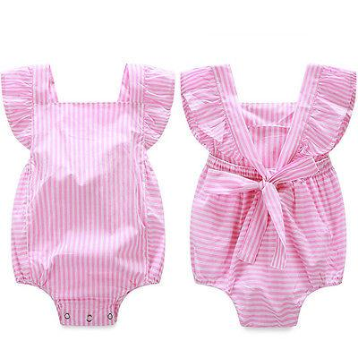 Striped Pink Jumpsuit  -  Tiny Cupids