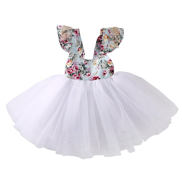Floral Tutu Party Dress.  -  Tiny Cupids
