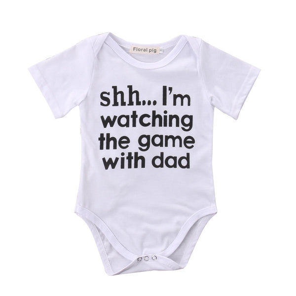 Shh..I'm Watching The Game With Dad Bodysuit  -  Tiny Cupids