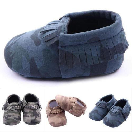 Camouflage Soft leather Shoes  -  Tiny Cupids