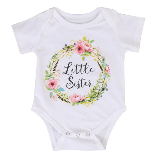 Little Sister Bodysuit & Big Sister Shirt.  -  Tiny Cupids