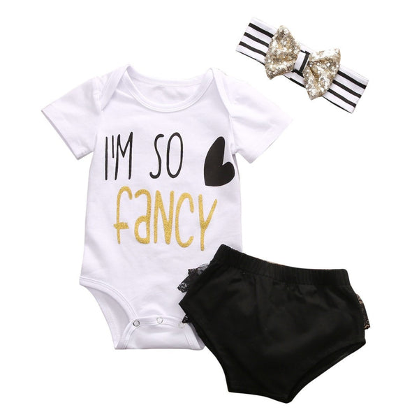 So Fancy Bodysuit Set  -  Tiny Cupids
