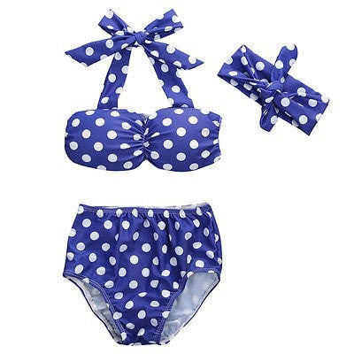 Polka Dots & Bow Bikini Swimsuit.  -  Tiny Cupids