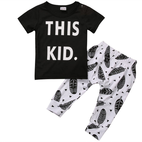 This Kid Feather Clothing Set