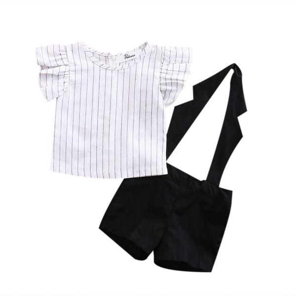 2Pc Black & White Outfit  -  Tiny Cupids