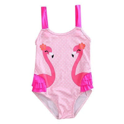 Pink Flamingo Swimsuit  -  Tiny Cupids