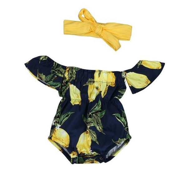 Cute Lemons Romper  -  Tiny Cupids