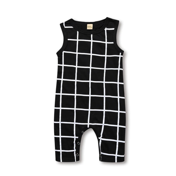 Squares Printed Jumpsuit  -  Tiny Cupids