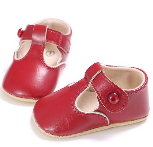Leather Soft Sole Crib Shoes Christening Prewalker