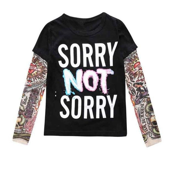 Sorry Not Sorry / Batman Tatoo T-Shirt  -  Tiny Cupids
