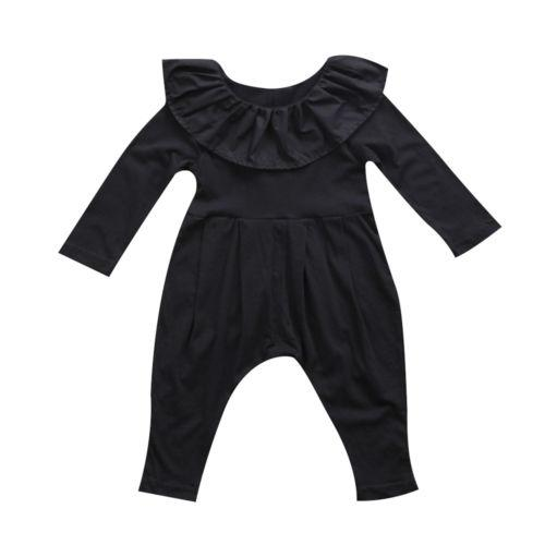 Long Sleeves Ruffle Collar Jumpsuit