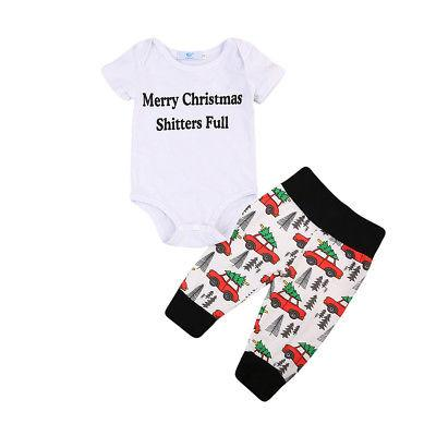 Marry Christmas & You Serious Clark Clothing Set