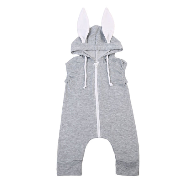 Grey Rabbit Ears Jumpsuit