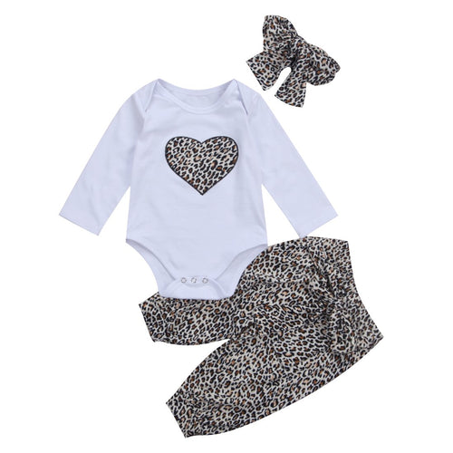 Leopard Heart Design Outfit