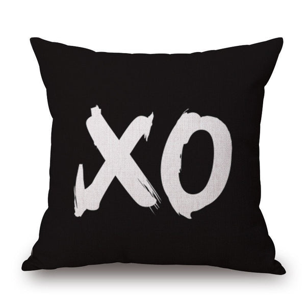 XO Pillow cover.  -  Tiny Cupids