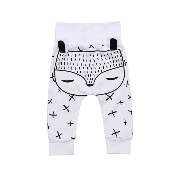 Black& White Bear Pants  -  Tiny Cupids