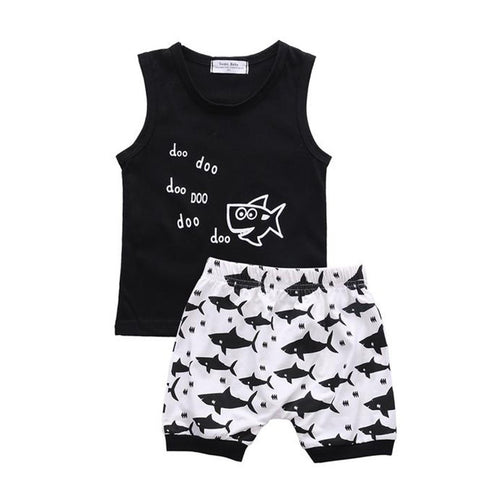 Tiny Shark Summer Outfit  -  Tiny Cupids