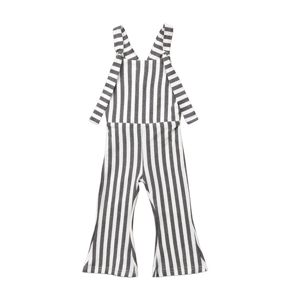 Striped Brace Overall Pants