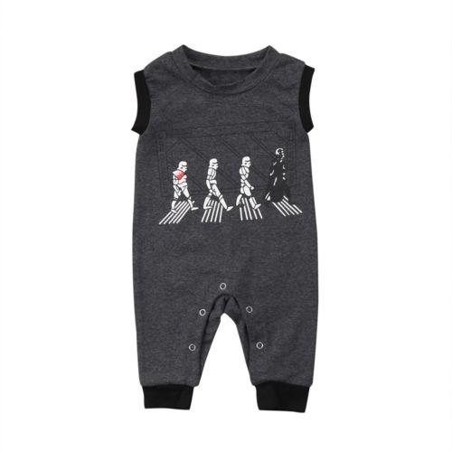 Darth Vader and Troopers Print Jumpsuit