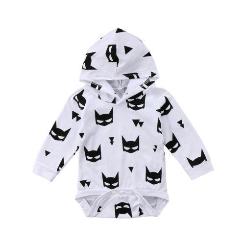 Batman Hooded Romper  -  Tiny Cupids