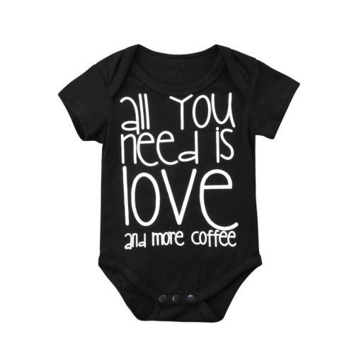 All you need is Love and more Coffee Bodysuit  -  Tiny Cupids