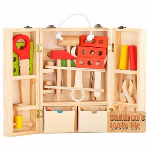 Wooden Tool Box  -  Tiny Cupids