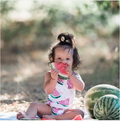 Sleeveless Watermelon Outfit
