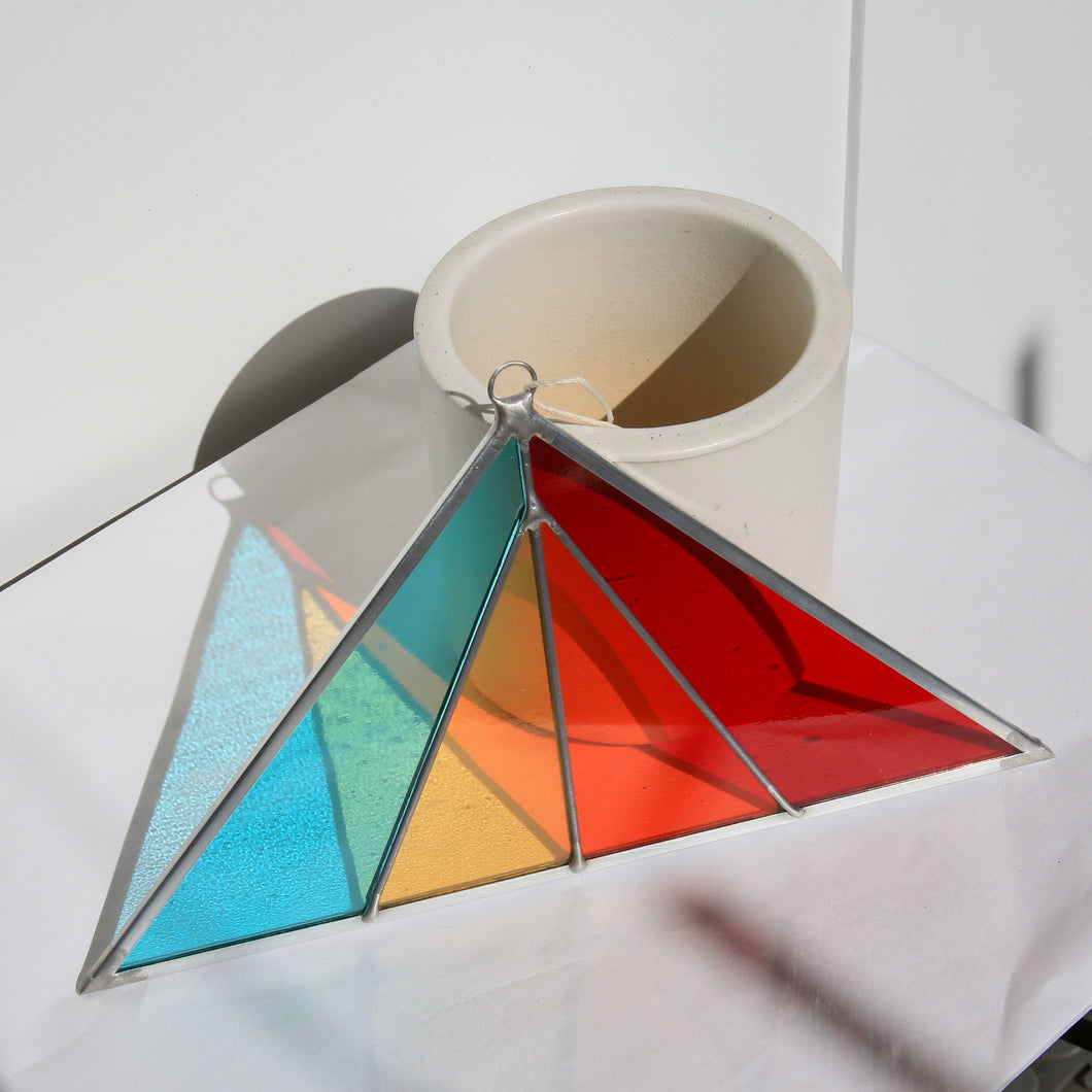 Medium Triangle Stained Glass Ornament