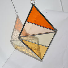 Buckwheat Field Stained Glass Diamond Ornament