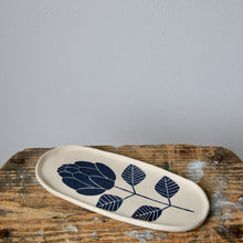 Oval Hand Painted Flower Dish