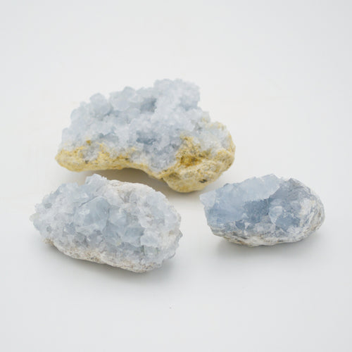 Blue Celestite Rock Crystal