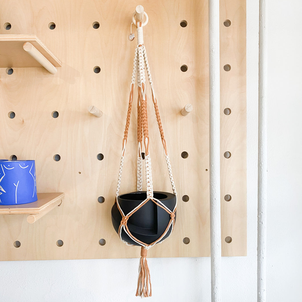 Macrame Plant Hanger With Two Colors