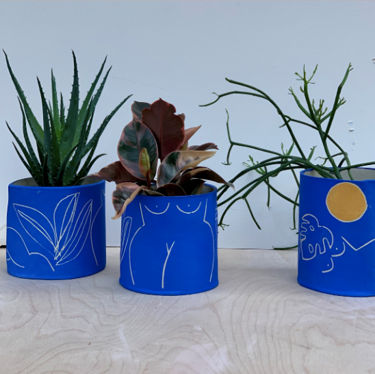 Blue Lady Planter