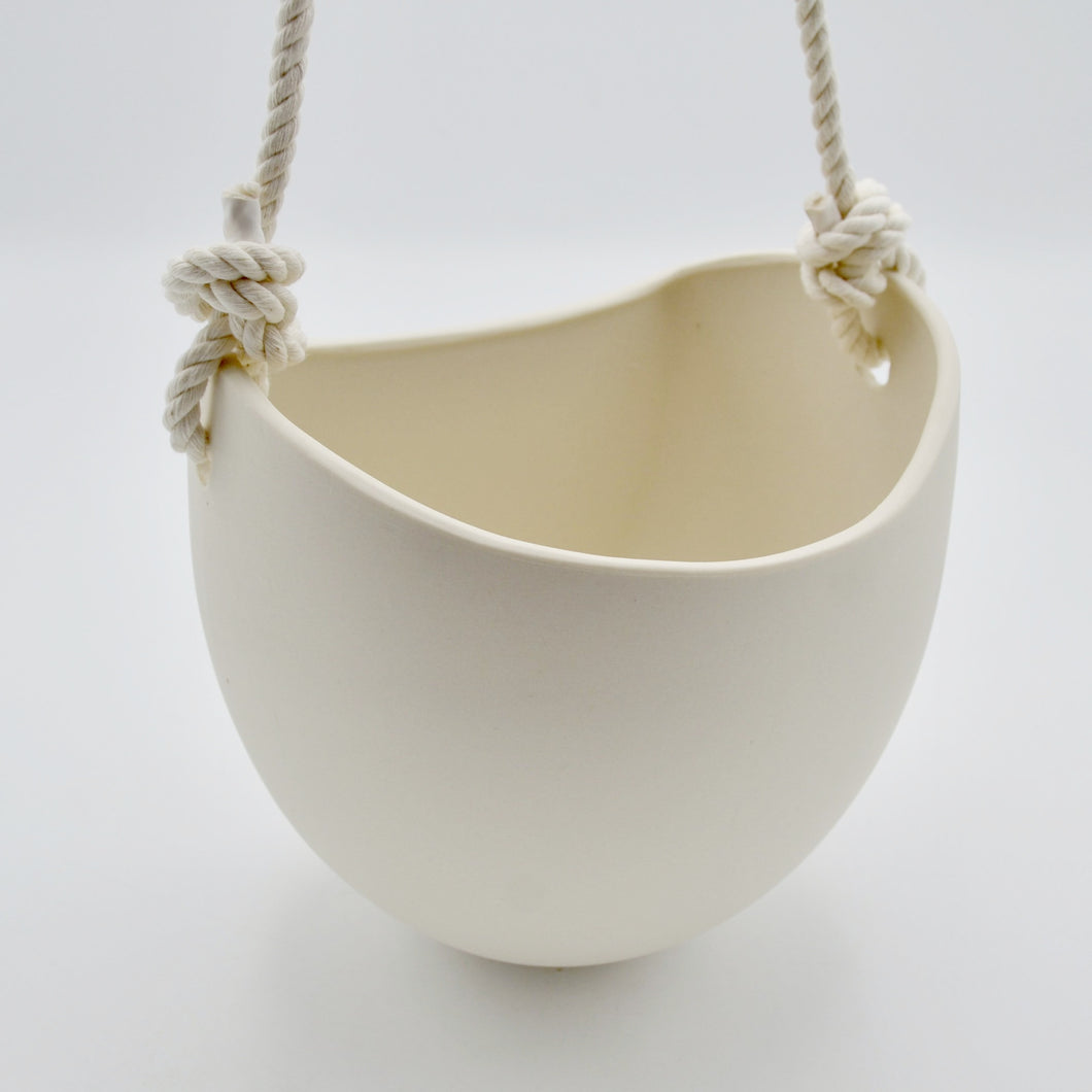 Large White Hanging Wall Planter
